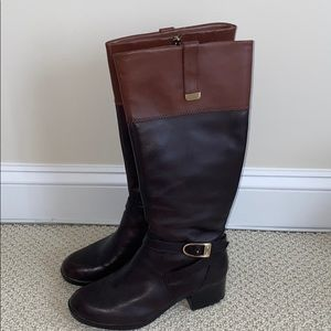 Brown Two Toned Riding Boots 👢